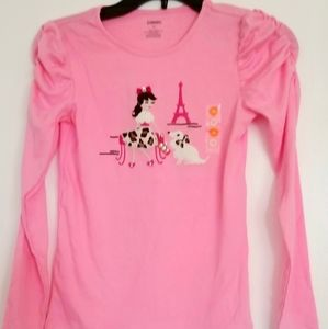 Gymboree girls pink top cotton long sleeve size 10